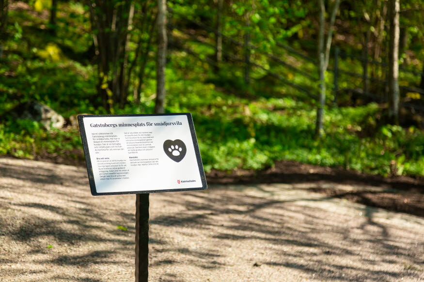 Gatstubergs minnesplats för smådjursvila. Foto: Josefine Karlsson