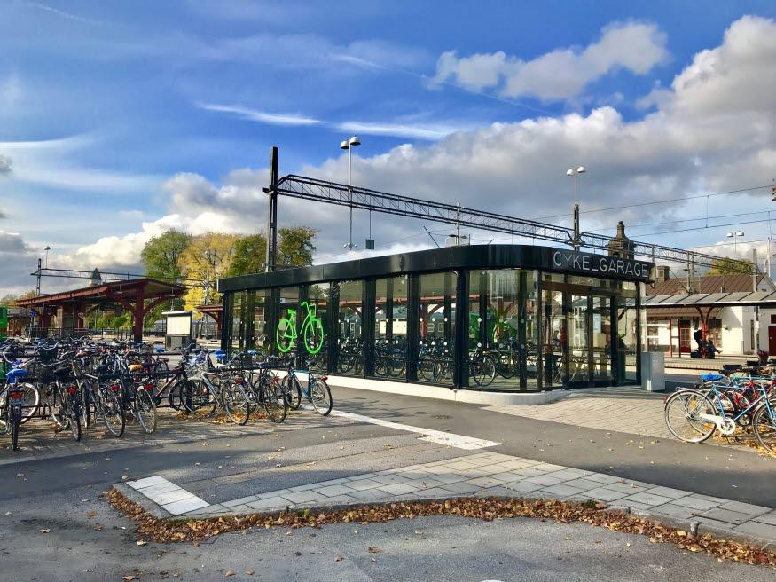 Cykelgaraget vid Resecentrum, foto: Cyklos