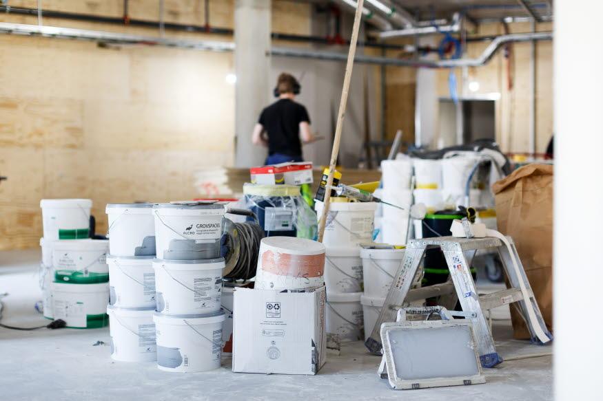 Avfall från byggarbetsplats, foto: Hanna Maxstad