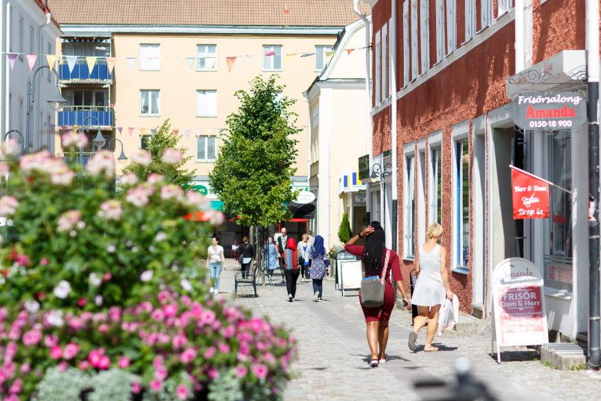 Drottninggatan i Katrineholm. Foto: Hanna Maxstad