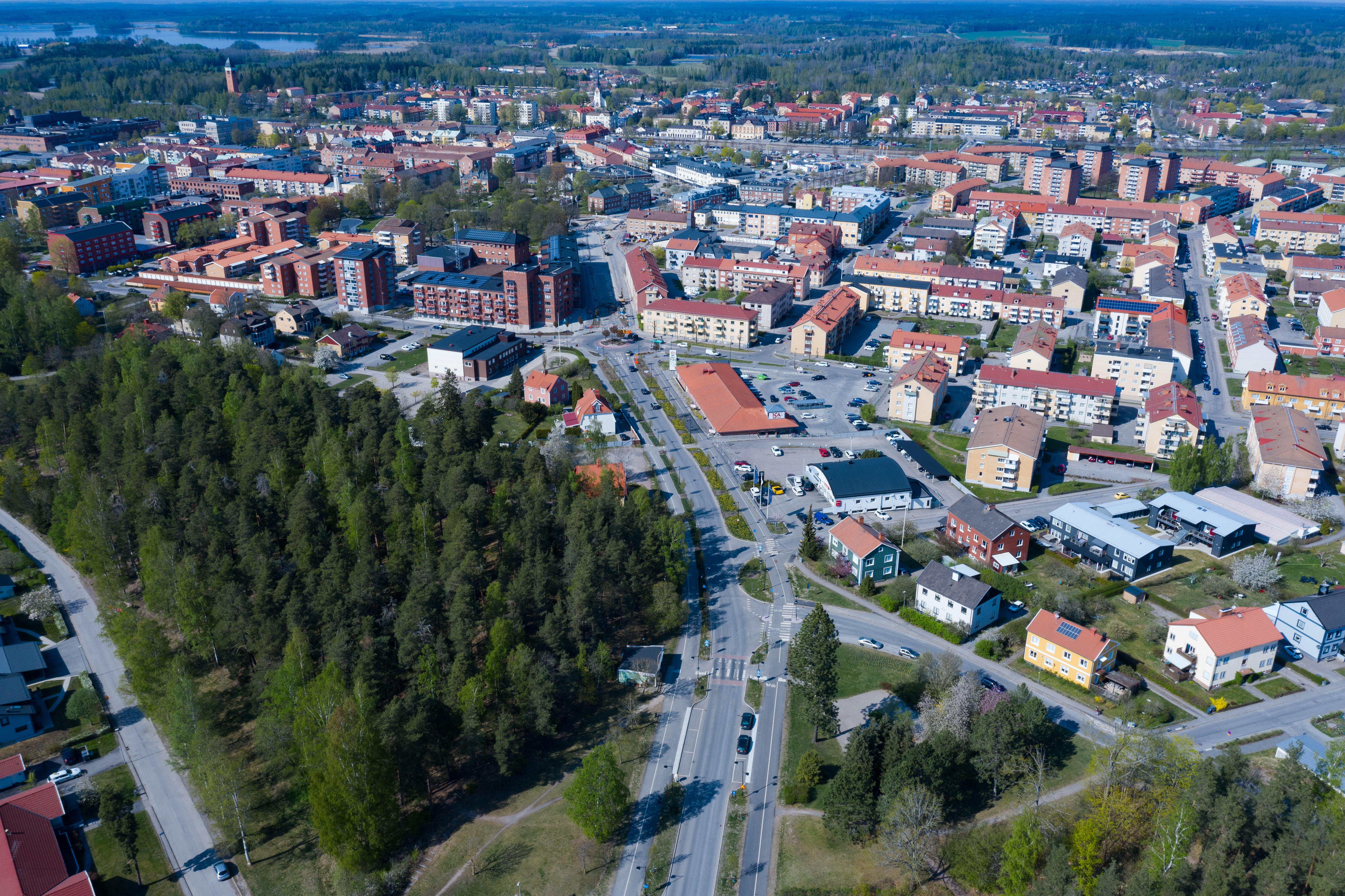 Översikts bild över Katrineholms stad, foto: Johan Klinthammar